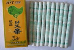 Wholesale Moxa Rolls - 10 pcs best quality 30:1 moxa stick roll moxibustion 5 year old chinese mugwort stick Health care relieve pain 18mm*200mm