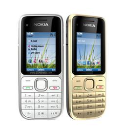 Бар телефон дюйм онлайн-Оригинальные мобильные телефоны NOKIA C2-01 2,0 дюйма 3,2-мегапиксельная одиночная камера Bar 3G WCDMA отремонтированные телефоны