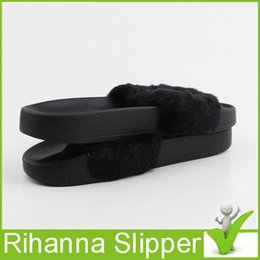 Wholesale Summer Slippers Sale - 2016 Jointly Collaboration Style Rihanna Creeper Women Summer Slipper Fenty Outdoor Sandals Fashion Cool Women Girl Slipper 5.5-9.5 Hot Sale