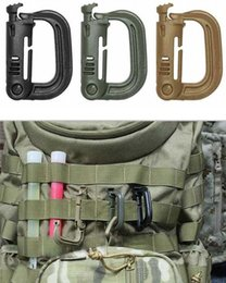 Wholesale Tactical Equipment Wholesalers - Free shipping Brand New Molle Tactical Backpack EDC D-ring carabiner buckle key chain hanging buckle high strength ITW lightweight equipment