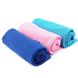 Wholesale Gift Packaging Towels - 2016 New Gifts package Cold Towel Summer Sports Ice Cooling Towel Double Color Hypothermia cool DHL Free