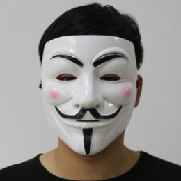 Wholesale Guys Wedding Dresses - Halloween Party V Vendetta V word Mask Costume Guy Fawkes Anonymous Halloween Masks Fancy Cosplay SP