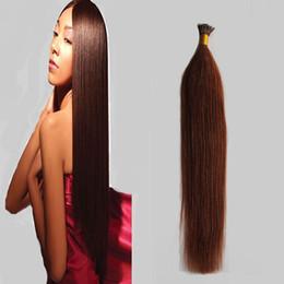 2019 auburn spitze haar # 33 Dark Auburn Brown Ich tippe Haarverlängerungen 50g vorgebundene Haarverlängerungen 50 Strähne Ich spitze farbige Haarverlängerungen 4c 4b günstig auburn spitze haar