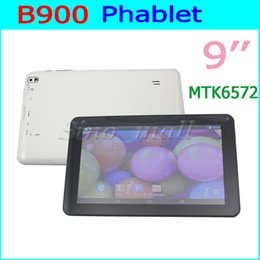Wholesale Pc Bluetooth Gps - 9'' Phablet B900 Dual Core Android 2G MTK6572 Dual Camera Tablet PC 512MB+4GB GPS WIFI 800*480 px Phone Call Tablet