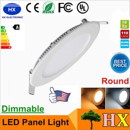 Wholesale Dimmable Ceiling Lamp 3w - Dimmable Round Led Panels Light SMD 2835 3W 4W 6W 9W 12W 15W 18W 25W 110-240V Led Ceiling Recessed down lamp SMD2835 downlight