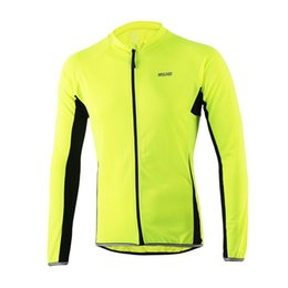 Wholesale Long Sleeve Mtb Jersey Summer - ARSUXEO 2017 Outdoor Sports Cycling Jersey Spring Summer Bike Bicycle Long Sleeves MTB Clothing Shirts Wear Bike Jersey