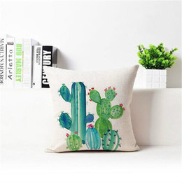Wholesale Family Cases - Cacti Pillow Case Car Sofa Decor Family Articles Multi Function Tropical Plant Printing Pillowslip Many Styles 6 8xa C R