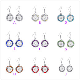bling flowers wholesale Coupons - 2016 NEW 8 Colours Bling Crystal Interchangeable Snap Buttons Earrings Fit 12 mm Ginger Snap Earring Jewelry