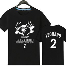 Wholesale Leader T Shirt - Leader player t shirt Kawhi Leonard short sleeve gown Basketball star tees Leisure unisex clothing Quality cotton Tshirt