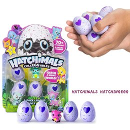Wholesale Growing Animals Toy - Christmas Gift Hatching Eggs Interactive Cute Fantastic Growing Hatchimals Chrismas Gifts for Kids Smart Toys Children Education 4Pcs Pack