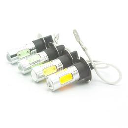 Wholesale H3 Fog Light Bulb Yellow - H3 COB LED High power 12V PK22S white   yellow Fog light Daytime running light for car styling red   iceblue bulb