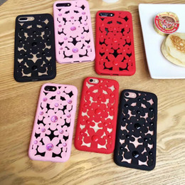 Wholesale Tpu Smartphone Case - Hollow flower for iphone 7 7Plus smartphone shell for iphone 6S plus silicone cover soft shell