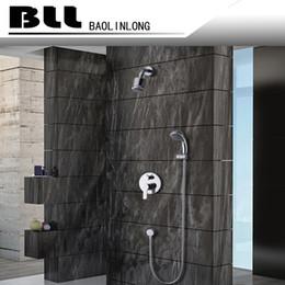 Wholesale Round Metal Tub - BLL Tub mixer faucet with wider Tap hand shower Round Rain Bathroom Shower Head Brass Hand Shower 7009A