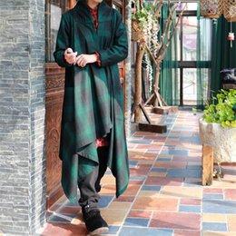 412aaa24c8f Johnature Women Wool Coats Plaid Vintage 2017 Winter New Long Sleeve Casual  Pockets Irregular Sweep Fashion Blends Original Coat