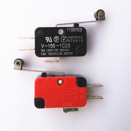 Commutateur nc en Ligne-V-156-1C25 Micro Switch Levier longue charnière / bras de levier / rouleau NO + NC 100% tout neuf Momentary Limite Micro Switch SPDT Action instantanée Commutateur