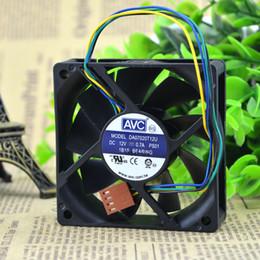 Wholesale Avc Fan Cpu - Wholesale- DA07020T12U 7020 12V line four speed single ball CPU cooling fan for taiwan avc 70X70X20MM