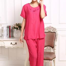 Wholesale Women Pajamas Large - Wholesale- Hot Fashion Women Pajamas Summer 2017 Brand Ladies Large size Short Sleeve Cotton Pajamas Sets Pyjamas Women 20056
