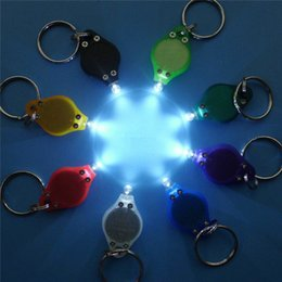 Wholesale Wholesale Used Car Batteries - Keychain Mini Flash LED Light Camping Outdoor Gadgets use Button Batteries Promotion Gift DHL Fedex Shipping