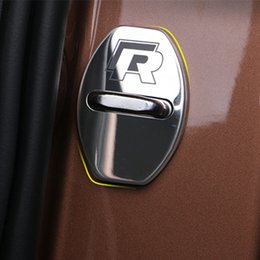 Wholesale Door Lock Protection Cover - 4PCS Door Lock Decoration Protection Cover case Car Care For Volkswagen Lamando Sagitar, Tiguan, Golf 7,Long Yi Car Styling