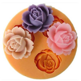 Wholesale Candle Moulds - 3D Roses Cake Silicone Mold Soap,Fondant Candle Molds,Sugar Craft Tools, Chocolate Moulds Cake Decoration Tool