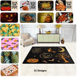 Wholesale Bathroom Textiles - 31Styles PVC Halloween Pumpkin Skull Fruit Pineapple Non-Slip Indoor Outdoor Floor Mat Doormats For Home Decor Bath Room Kitchen Mats HH7-65