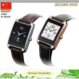 "Wholesale Wrist Watch Original Straps - Original Zeblaze MiniWear Metal body Smart Watch MTK2502C 1.21"" IPS 240*240px leather strap Fitness tracker Real Heart rate Wristwatc"