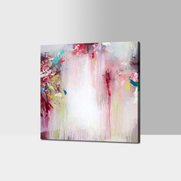 Wholesale Framed Canvas Acrylic Paintings - Simple Abstract Oil Painting Acrylic on Canvas 100% Handpainted 2016 Newest Design for Living Room Decoration No Frame