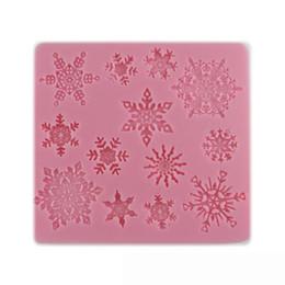 Wholesale Snowflakes Cake Mold Silicone - 1 Pcs 3D Christmas Snowflake Shape Silicone Cookie Mold Candy Cake Decorating Tools Kitchen Baking Decorating Tool