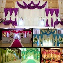 2019 cortinas para la decoración de la boda HoT Selling 3pcs / lot (1pcs 4 * 3m + 2pcs 2 * 2m) cortina de seda de la boda del hielo cortina de telón de fondo plisado telón de fondo de la decoración cortinas para la decoración de la boda baratos