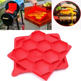Wholesale Press Maker - Innovative Hamburger Press Mold Red Silicone Meat Burger Press Maker Freezer Container Barbecue Baking Moulds Kitchen Tools WX-C76