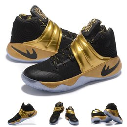 Wholesale Dress Fabric Silk - (With shoes Box) 2016 New Hot Sale Kyrie Irving 2 II Custom Made Limited Edition Shoes Men Shoes