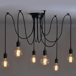 6/8/10 Kafaları Mordern İskandinav Retro Edison Ampul Işık, Endüstriyel Vintage Tavan Lambası, Edison Işık Kolye Aydınlatma Tutucu nereden usb flash stickler tedarikçiler