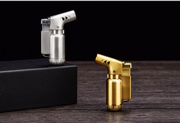 Wholesale Gun Butane Torches - metal Butane jet flame torch lighter Windproof Cigar lighter Welding Gun Refillable Butane Gas Lighter