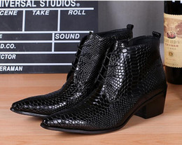 Wholesale Real Weddings Knot - New Winter Boots for Men Fashion Italian Brand Designer Real Leather Ankle Boots Botines Mujer Black Wedding Shoes Plus Size 38-46