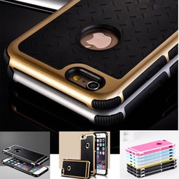 Wholesale Hybrid House - New Luxury Phone Cases For Apple iPhone 5 5Se 6  6s Plus 5.5 Rubber Hybrid PC Back Cover Rugged Matte Hard Back Phone Housing