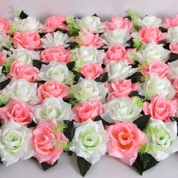 Wholesale Bright Wedding Flowers - 50pcs lot Bright Cloth Rose Flower Head Artificial Lliy Flowers Handmade DIY Wedding Home Decoration Festive & Party Supplies