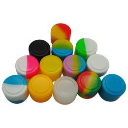 Recipiente de óleo bho on-line-Stock nos EUA! Recipiente não-stick de Silicone 2 ml pequeno Silicone personalizado Bho Oil Container Para Cera Bho Oil Silicon Jars Dab Wax Container