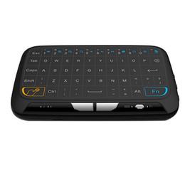 Usine de fenêtres en Ligne-2017 Usine H18 Mini Clavier Sans Fil 2.4 G Clavier Portable Avec Touchpad Air Mouse Pour Windows Android / Smart TV / PAD