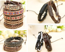 Wholesale Wide Leather Wrist Watch Band - Wide leather braided rope braided leather bracelet leather bracelet leather strap watch band wrist strap wrist band IDY leather bracelet