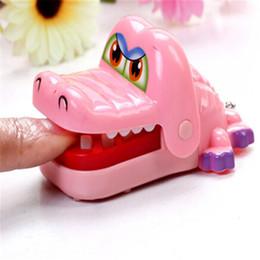 Wholesale Big Bite - New Children Toy Kids Gift Bite The Hand Crocodile Lanyards Crocodile Pendant Toy Trick Funny Toy