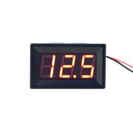 Wholesale Volt Digital Motor - Wholesale-3-30V DC Car Motor Red LED Digital Voltmeter Volt Voltage Panel Meter Brand New