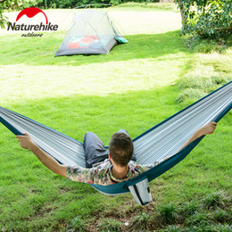 Wholesale Quality Cot - NatureHike High Quality Ultralight Hammock Outdoor Camping Hunting Hammock Portable Double person HAMMOCK For Hiking NH17D012