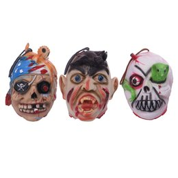 Wholesale Breaking Head - Halloween Props Bloody terrorist break Spoof Break Head  Hanging head Cosplay Mask for Party Mask Props Mask