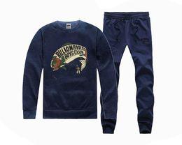 Wholesale Hot Suits For Men - H2078 Hot-sale bbc Sweatshirts +PANTS suit for Men and Women Fleece Lined Hip Hop Skateboard Crewneck hoodies S-5XL
