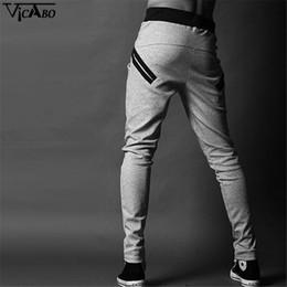 Wholesale Hip Hop Track Pants - Wholesale-Jogger Pantalones Hombre Casual Hip Hop Sweatpants Slim Trousers Harem Track Pants Sporter Men's Pocket Fitness Zipper Pants