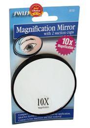 Espejo de maquillaje 10X, magnificado, viaje, espejo de aumento con lechón / espejo de aumento / espejo de aumento de aumento desde fabricantes