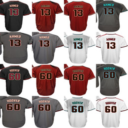 Wholesale Mens Suit Embroidery - Hot Sale Mens Womens Kids Toddlers Arizona 13 Nick Ahmed 60 J. J. Hoover Black Brick Gray White Embroidery Baseball Jerseys,suit XS-6XL