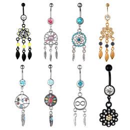 Wholesale Dream Catcher Body Jewelry - Majestic Dream Catcher Dangle Belly Button Navel Ring NEW Fashion Body Jewelry