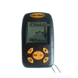 Wholesale Sonar Alarm Fish Finder Lcd - Wholesale-Portable Fish Finder Echo-Sounder LCD Fishing Depth Sonar Sounder Depth Range 0.6-100M Alarm Transducer Fishfinder