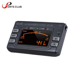 Wholesale Portable Bass Guitar - Wholesale- Portable Instrument 3-in-1 Metronome Tuner Tone Generator for Guitar Bass Violin Ukelele Chromatic LCD Display Guitar Tuner